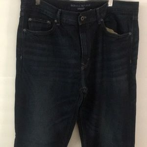 New without tags Banana Republic straight jeans 36